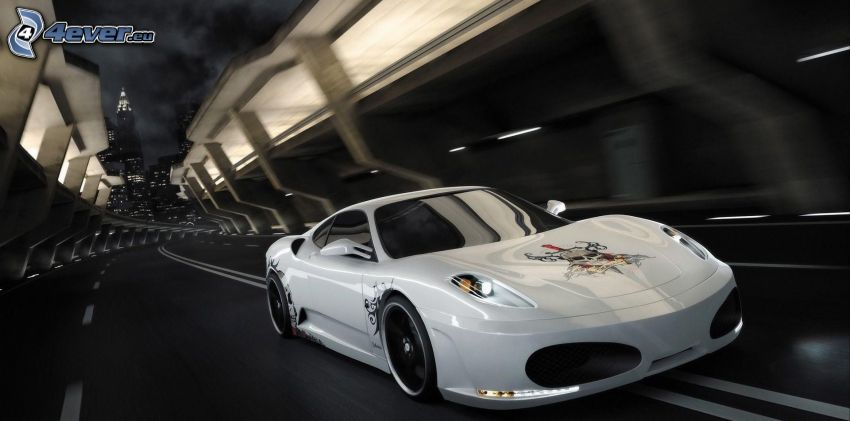 sportowe auto, prędkość