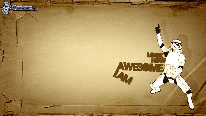 Stormtrooper, rysunkowa postać, Awesome