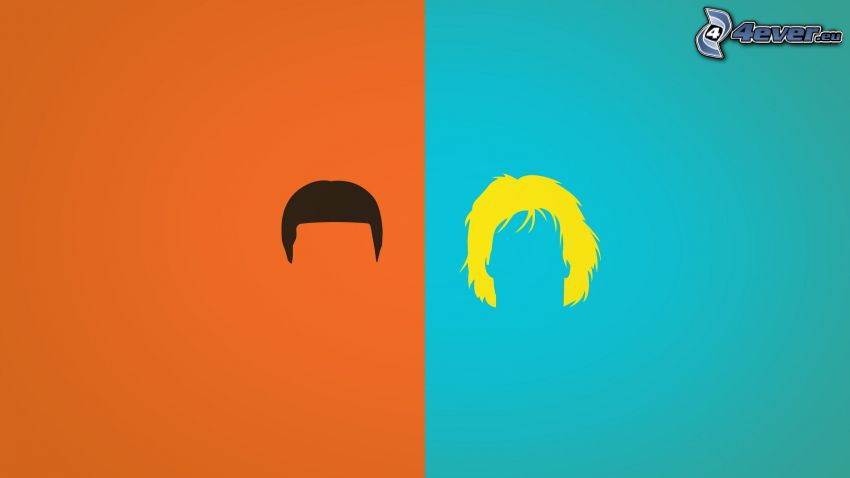 sylwetki, włosy