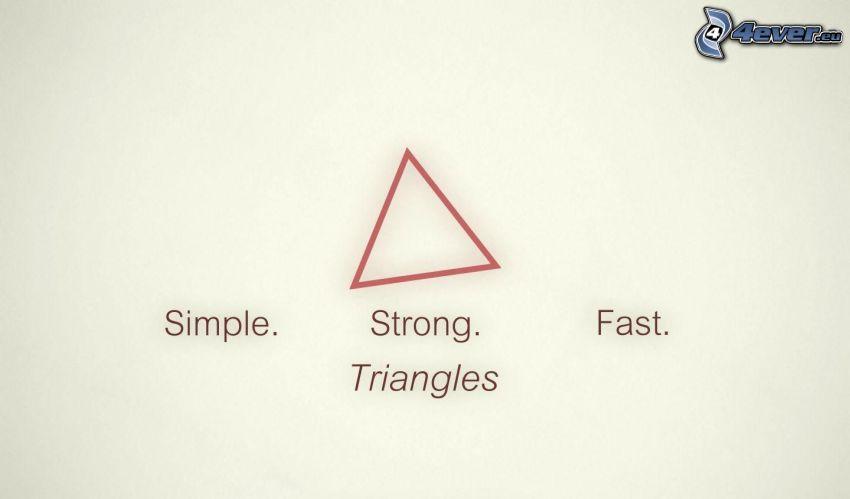 trójkąt, po prostu, siła, prędkość