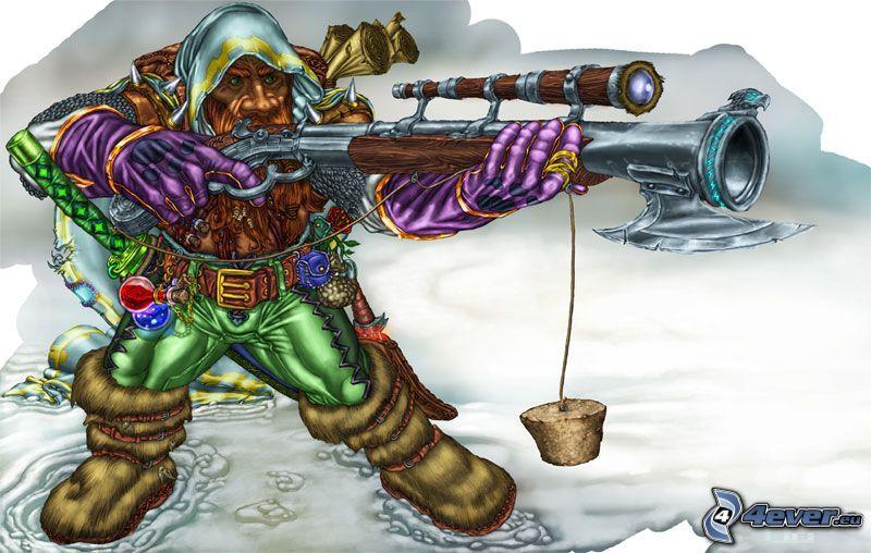 Warcraft, broń, rysowane