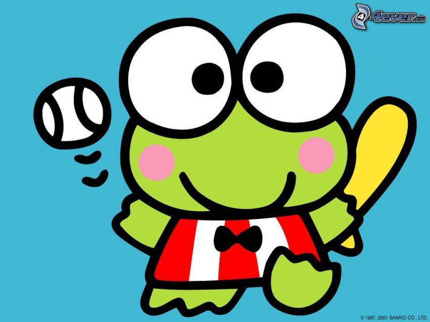 żaba, piłka, animacja