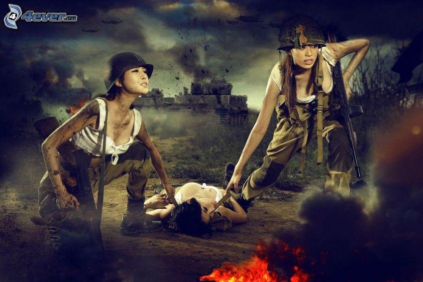 żołnierki, wojna