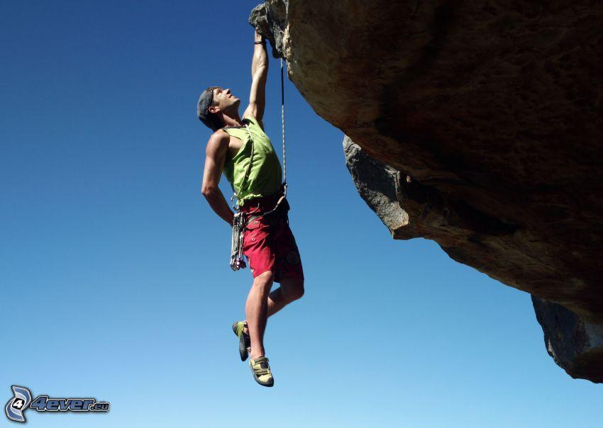 alpinista, skała