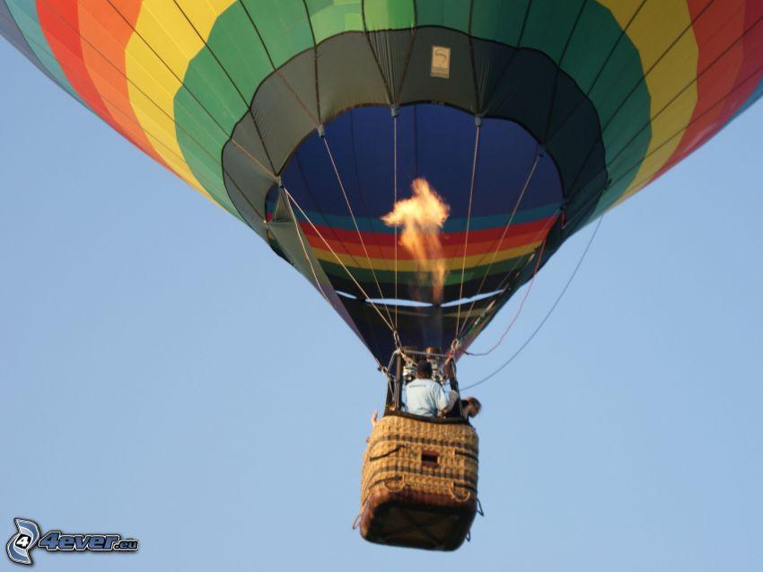 balon, ogień, lot