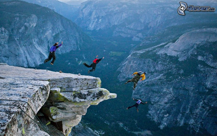 BASE Jump, skok, swobodne spadanie, wolność