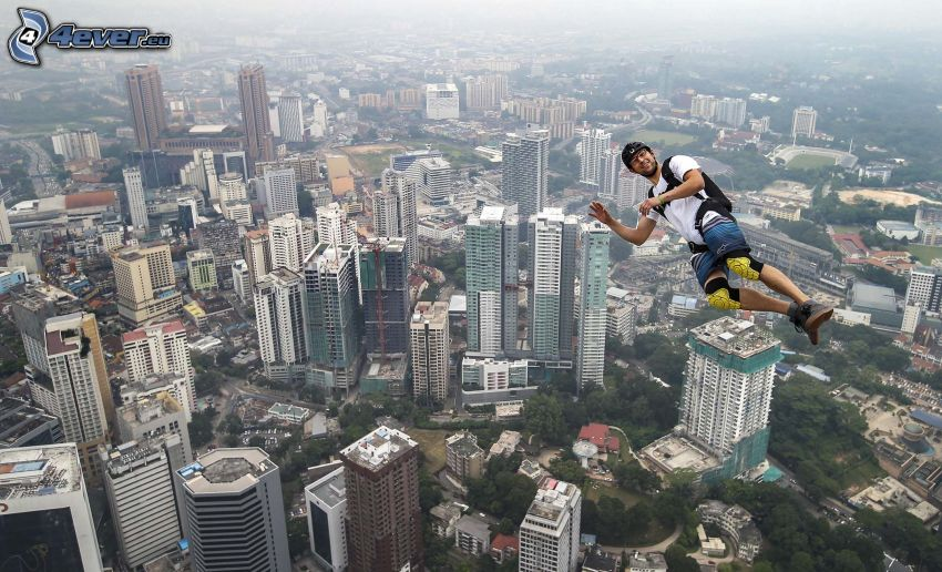 BASE Jump, wieżowce