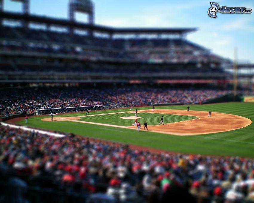 baseball, boisko, diorama