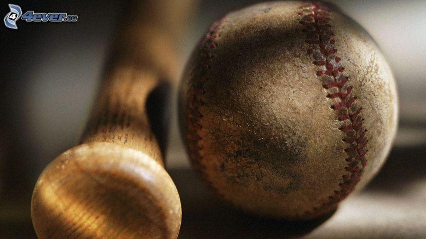 baseball, kij baseballowy, piłeczka baseballowa