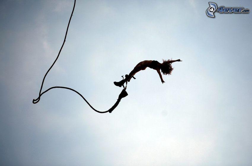 Bungee jumping, swobodne spadanie