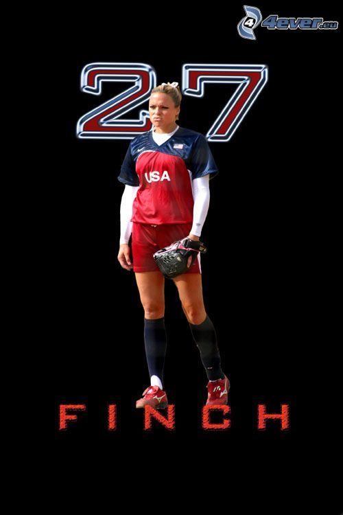 Finch, sportsmenka, kobieta