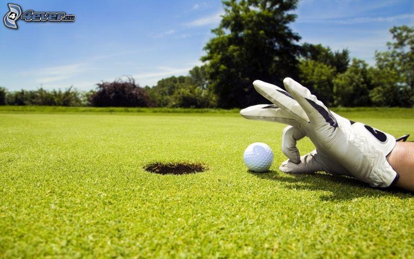 golf, ręka