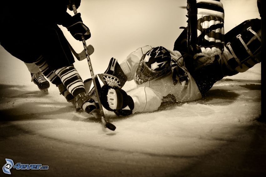 hokej, bramkarz