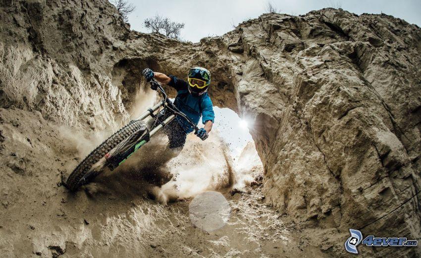 mountainbiking, skały