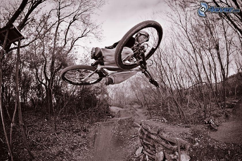 skok na rowerze, akrobacje, BMX, bike