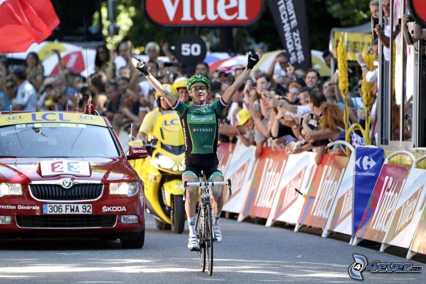 zwycięzca, rowerzysta, Tour De France