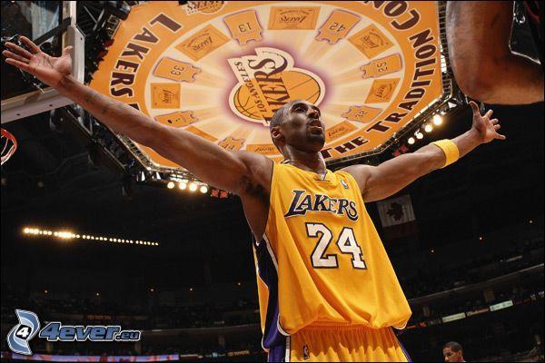 Kobe Bryant, LA Lakers, NBA, koszykarz, koszykówka, mężczyzna, facet