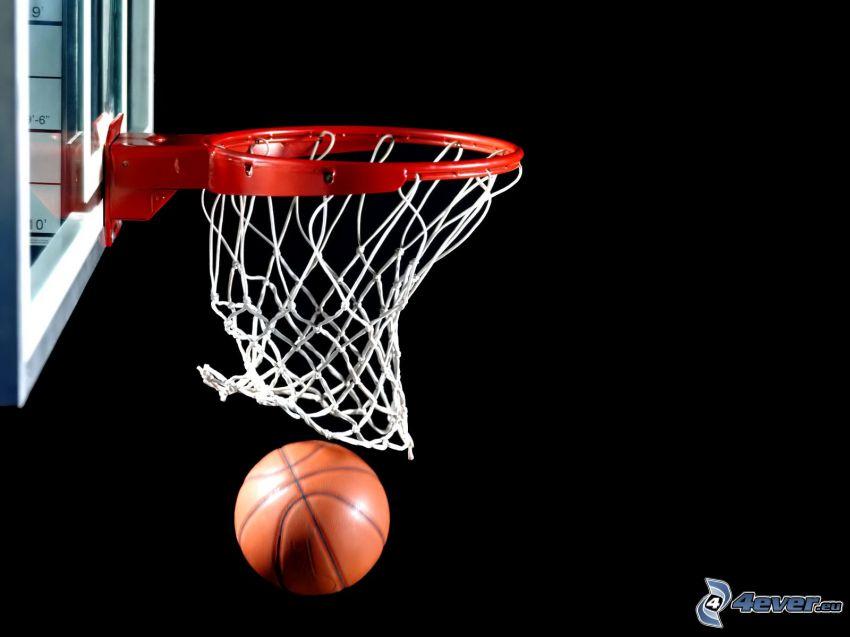 kosz do koszykówki, piłka