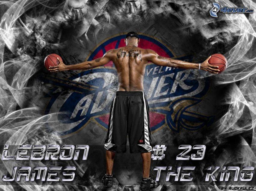 LeBron James, piłka, Cleveland Cavaliers