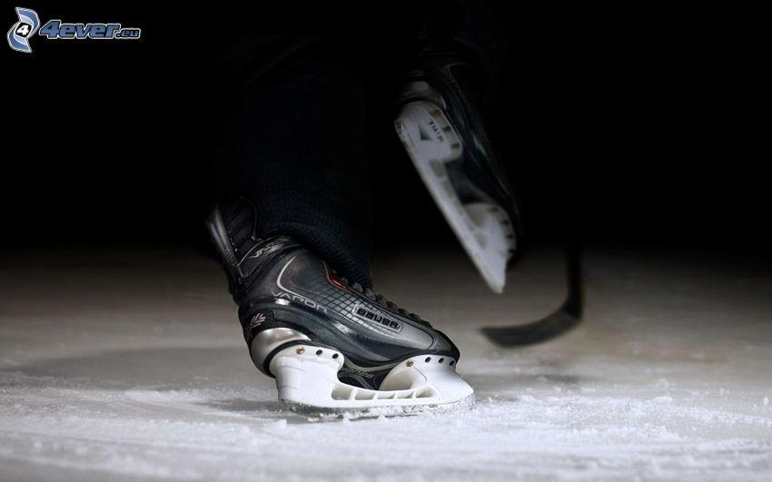 łyżwy, lód