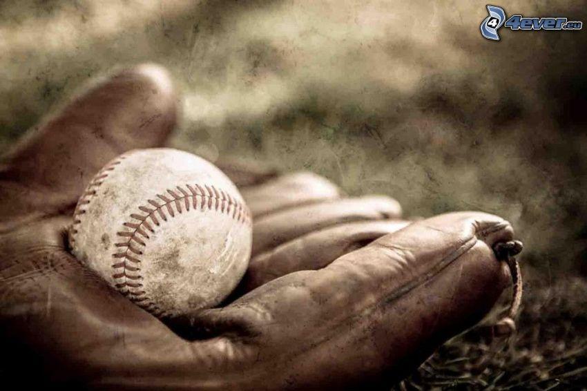 piłeczka baseballowa, rękawice