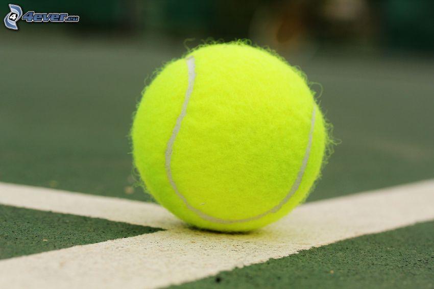 piłeczka tenisowa, białe linie