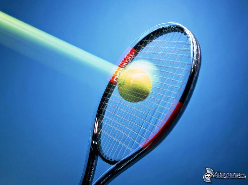 piłeczka tenisowa, rakieta tenisowa, prędkość