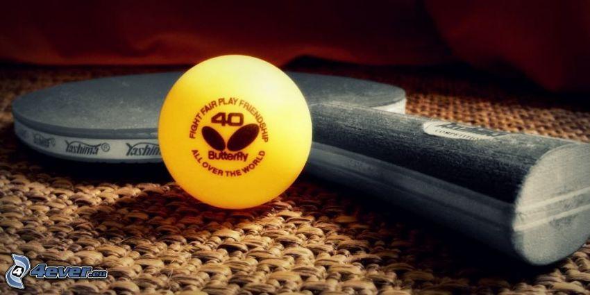 piłka, rakieta, tenis stołowy
