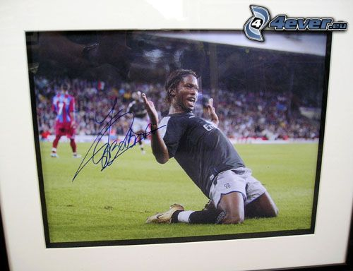 Didier Drogba, piłkarz, autograf