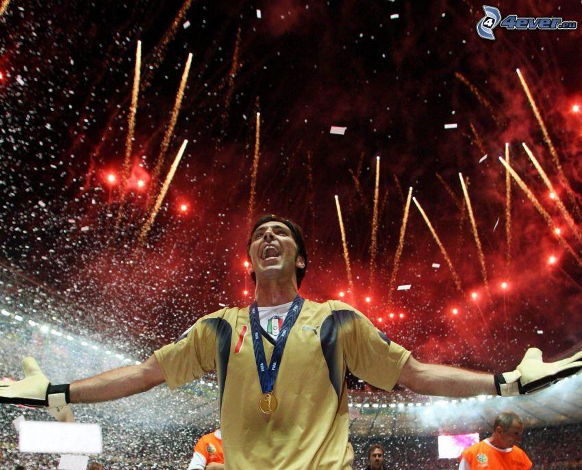 Gianluigi Buffon, bramkarz, sztuczne ognie