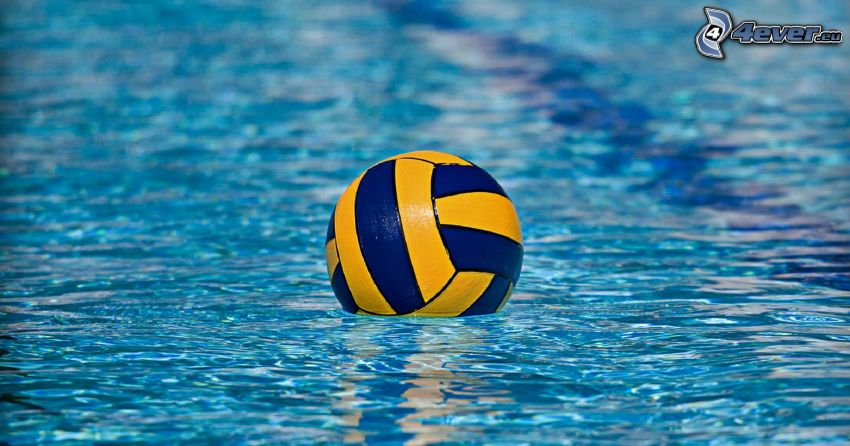 piłka wodna, piłka, woda
