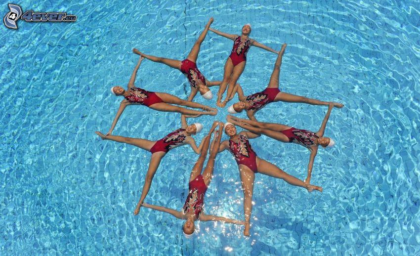 pływanie synchroniczne, basen