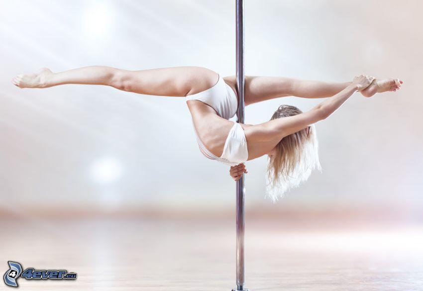 pole dance, szpagat