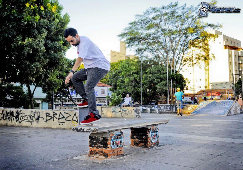Skateboarding, park