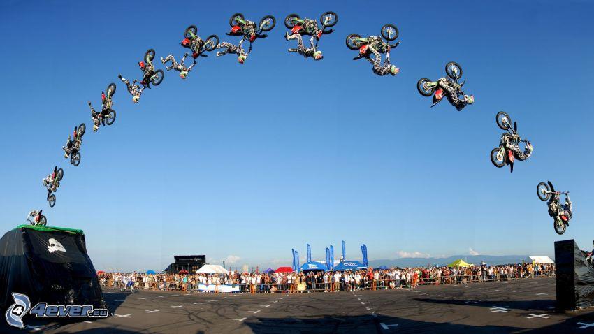 skok na motocyklu, adrenalina