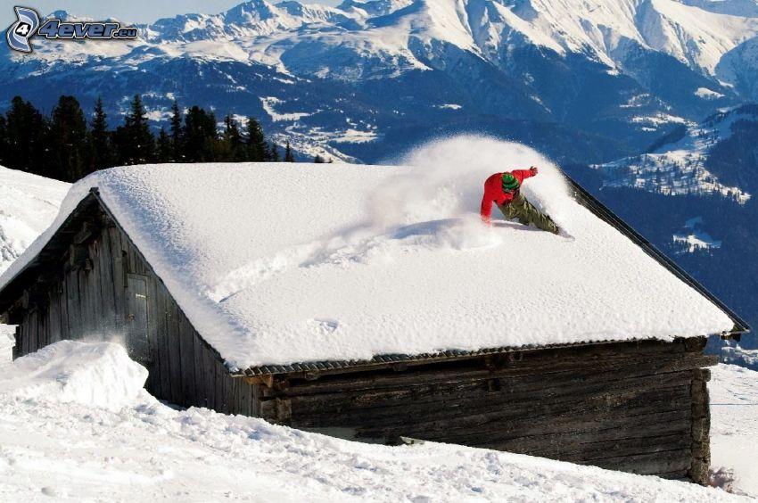 narciarstwo ekstremalne, domek