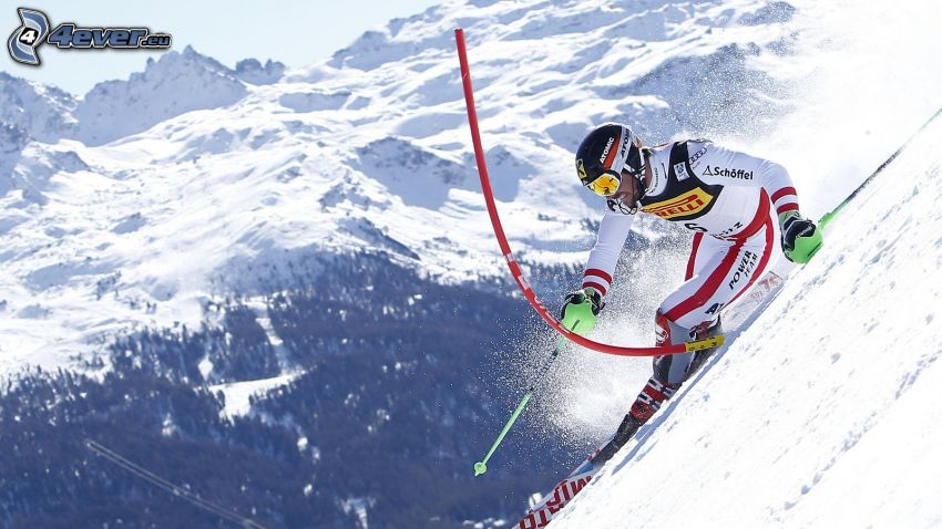 narciarstwo ekstremalne, zaśnieżone góry