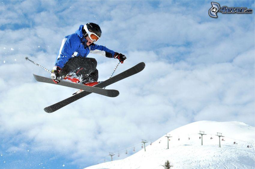 skok na nartach, wyciąg