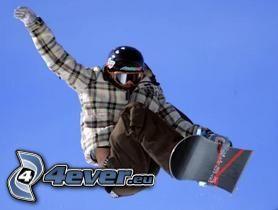 snowboard, niebo