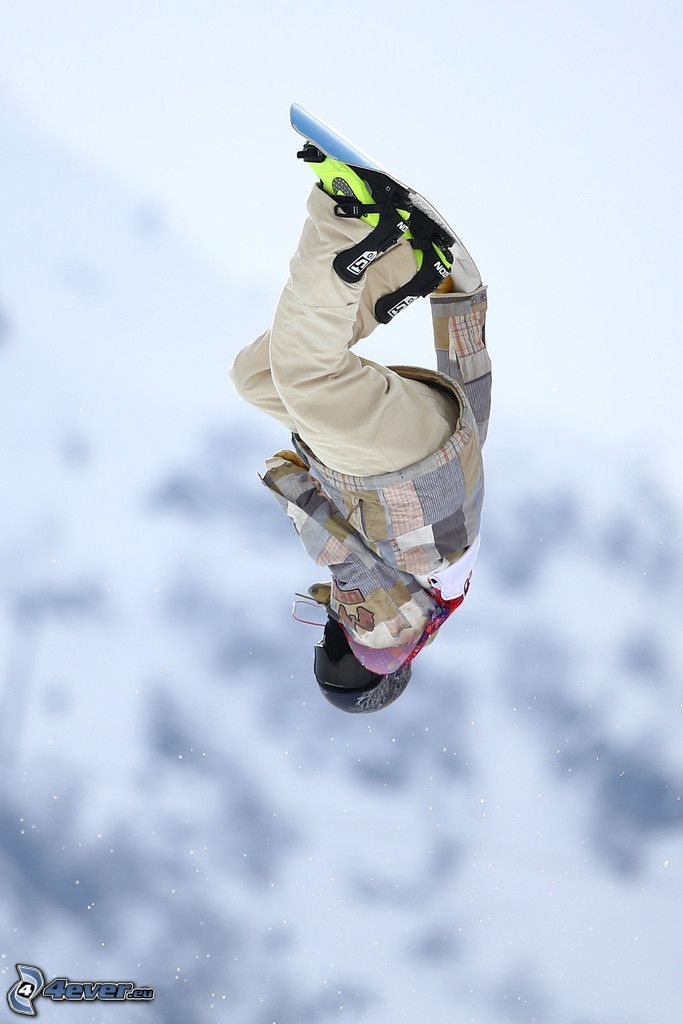 snowboarding, skok, akrobacje
