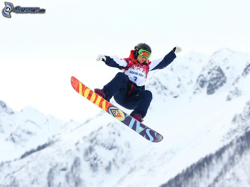 snowboarding, skok