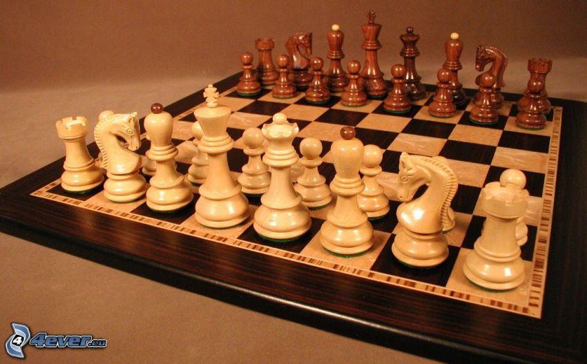 szachy, szachowe figury, szachownica