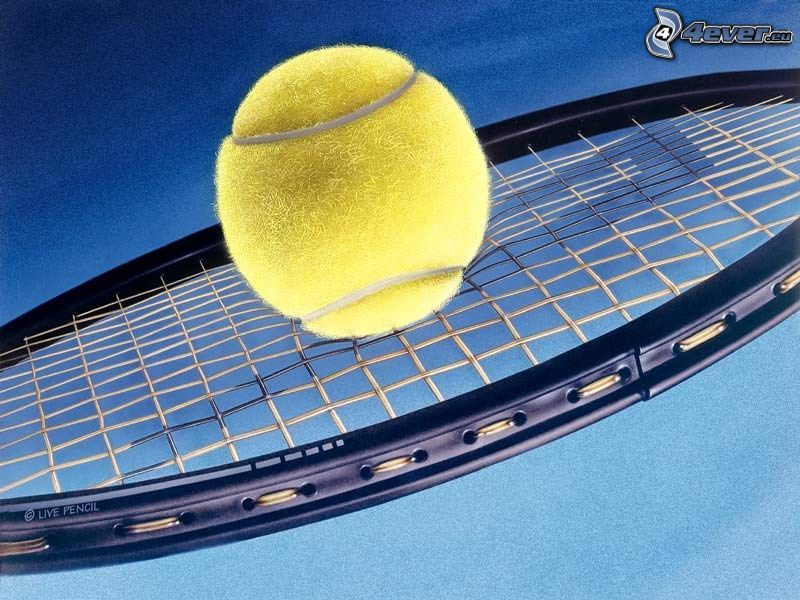 tenis, rakieta, piłka