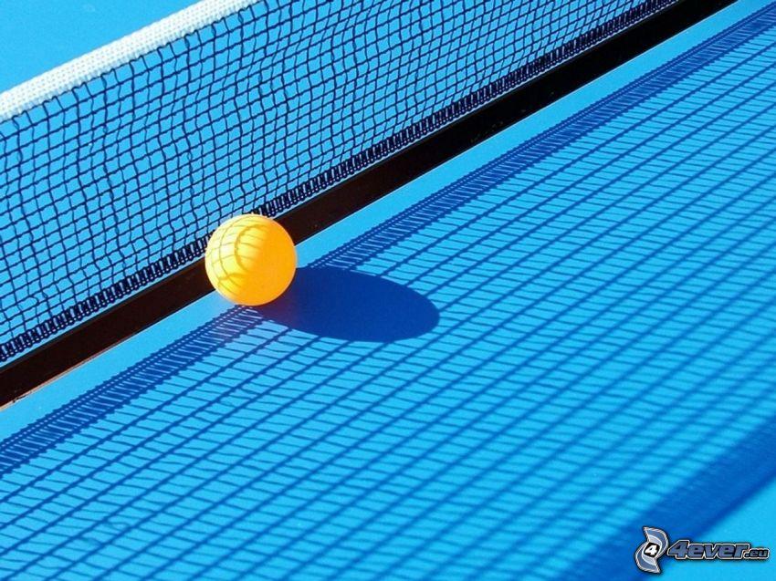 tenis stołowy, piłka, sieć