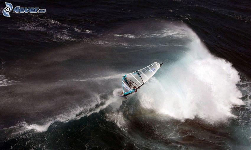 windsurfing, fala