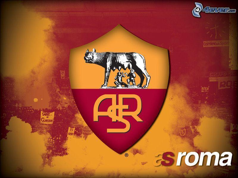 AS Roma, logo, klub, piłka nożna