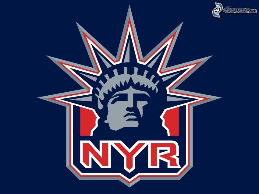 New York Rangers, logo, NHL, Statua Wolności