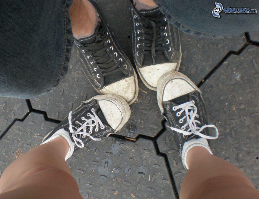 miłość, stopa, chińskie buty