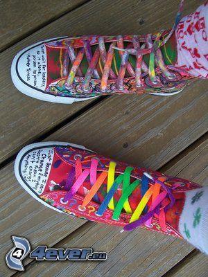 kolorowe trampki