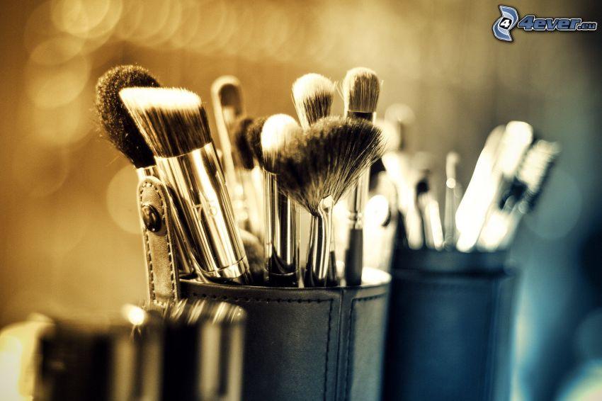 pędzle, make-up